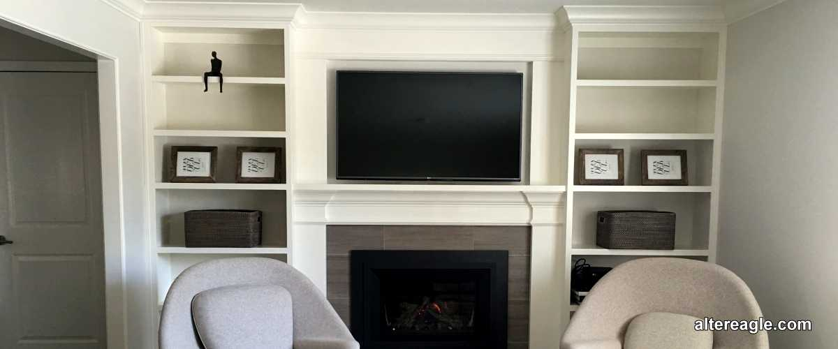 Mantel with cabinets